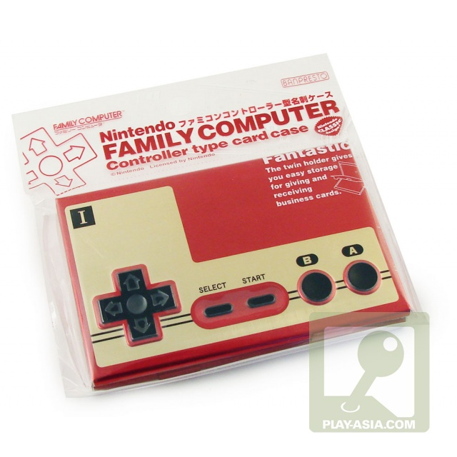 Your business card holder is a famicom controller nine for Video game business cards