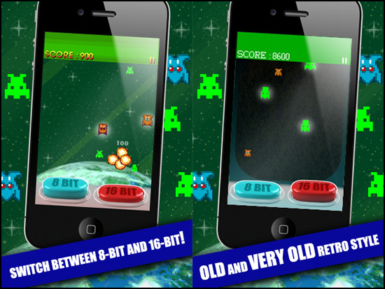 Vetasoft Releases 8 bit Vs 16 bit 1 0 Shmup for iOS | Nine